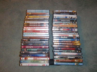 DVDs – NEW – over 50 - $5 ea