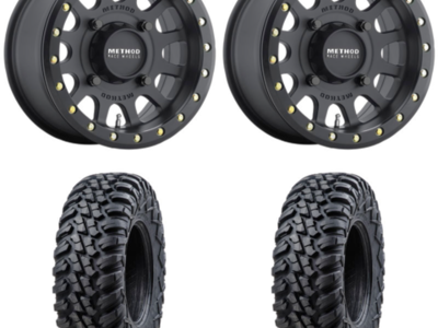 (4) 32x10-15 Tusk Terrabites on Method Race 401 Beadlock Wheel