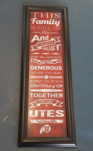 University Of Utah Utes Family Picture Wall Hangin for sale in Cedar City , UT