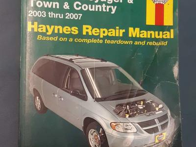 Haynes Manual Dodge Caravan Voyager Town&Country