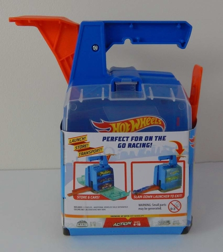 Hot Wheels Display Launcher Holds 6 Cars with 2 Vehicles Carrying Case for sale in Sandy , UT