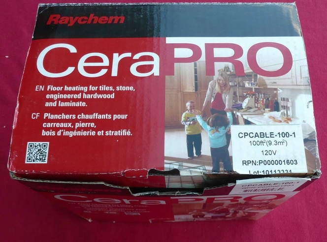 Brand new CPCABLE-100-1 RAYCHEM 120V CABLE KIT for floor heating, UPC 715629005830 for sale in Murray , UT