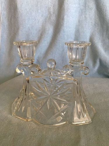 Glass Twin Candlestick Holder for sale in South Ogden , UT