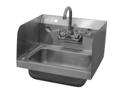 NEW Hand Sink with Sidesplash 18 Gauge 304 SS
