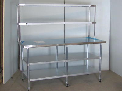 NEW 72x30 Stainless Table Extra Storage $675