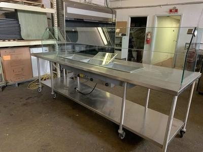 Used 12' steam table W Sneeze Guard Reduced was $3500