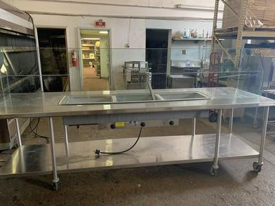 Used 12' steam table Sneeze Guard Reducedwas $3500