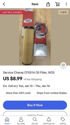 Service Champ CF5514 Oil Filter NOS for sale in Lehi , UT