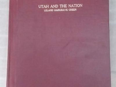 Historical Vintage Rare Antique Books: UTAH AND THE NATION