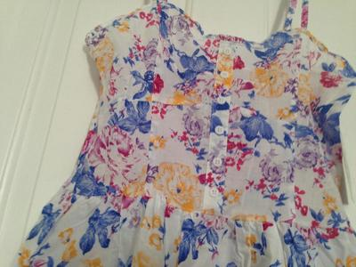 Sleeveless Cotton Printed Casual Summer Sun Dress