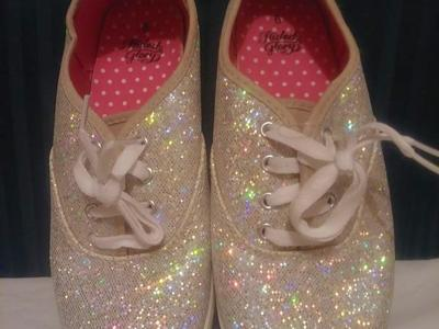 Girl's Casual Silver Sparkle Shoes
