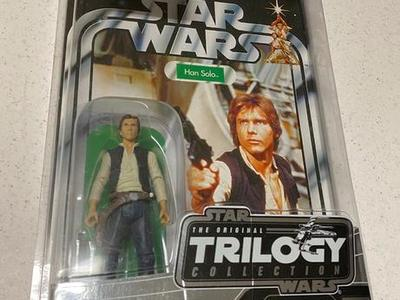Han Solo Vintage Star Wars Figure w/Star Case