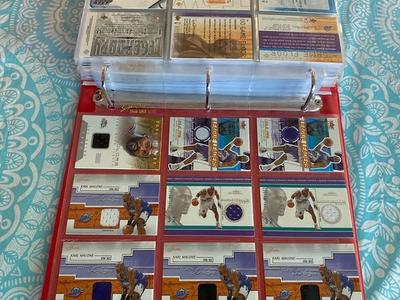 KARL MALONE GAME USED JERSEY 185 Different Cards