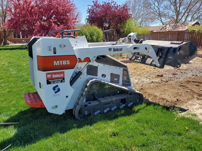 Bobcat Mini Skid Steer Rental Stand on Skid Steer for rent in Springville , UT