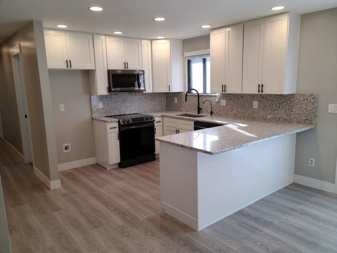 IN STOCK SOLID WOOD KITCHEN CABINETS -White / Light Grey Shaker Style for sale in West Jordan , UT