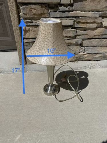 Lamp W/ Shade 17x10  $10  for sale in West Haven , UT