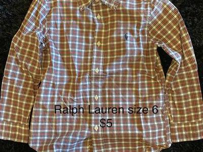 Kids Ralph Lauren Button Up Size 6 Great Shape $5
