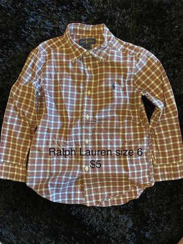 Kids Ralph Lauren Button Up Size 6 Great Shape $5 for sale in West Haven , UT