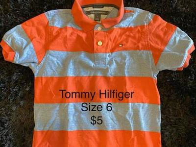 Kids Tommy Hilfiger Polo Great Shape Size 6 $5