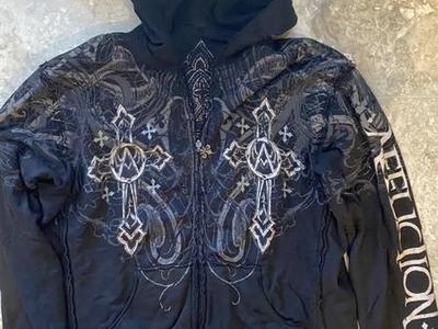 Affliction(Reverse-able)L/S Hoodie Full Zip L $45