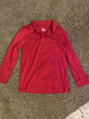 Boys Collard Shirt Long Sleeve Red M 10-12 $5 for sale in West Haven , UT