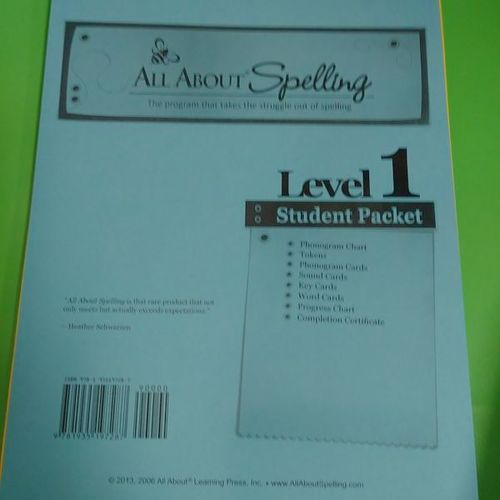 Brand New, All About Spelling Level1 for sale in Provo , UT
