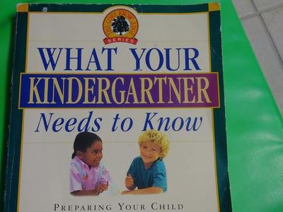 What you kindergartner needs to know.