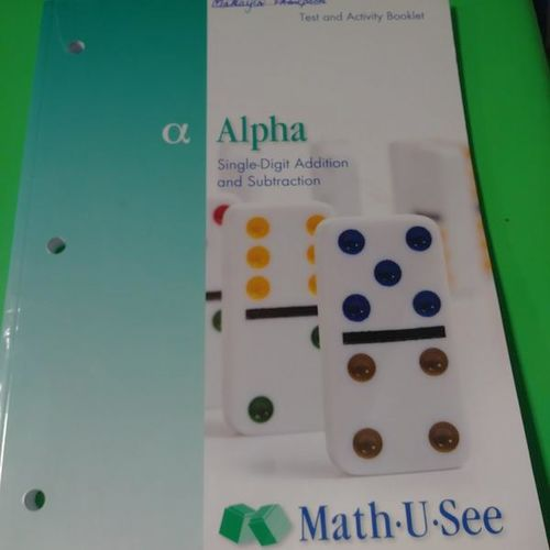 Alpha math U see test and activity booklet (new) for sale in Provo , UT
