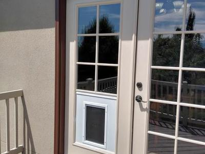 Dog/Pet door for french door's Installed