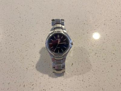 Seiko steel silver watch
