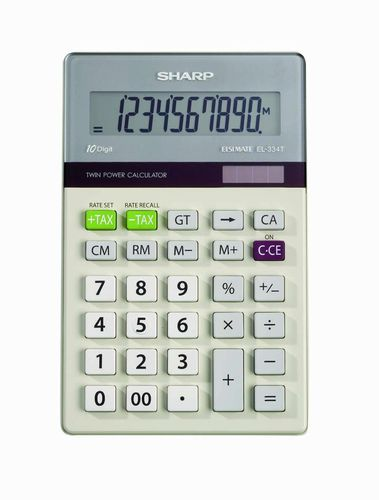 Sharp Electronics EL-334T Twin Power 10-Digit Calculator with Kick Stand for sale in West Valley City , UT