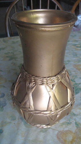 Gold Paint Glass Vase for sale in West Valley City , UT