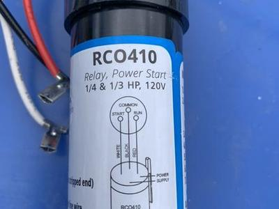 Supco RCO 410 Power Start Relay