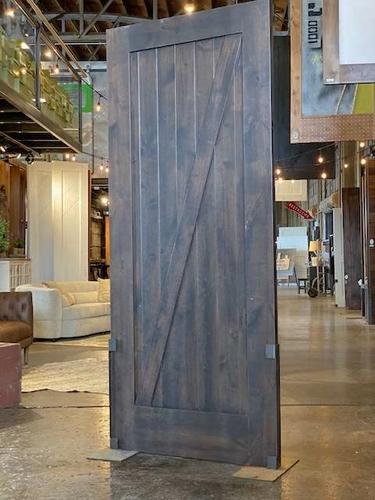 Sliding Barn Door Z Door Solid Alder Wood Stain Glazed for sale in Springville , UT
