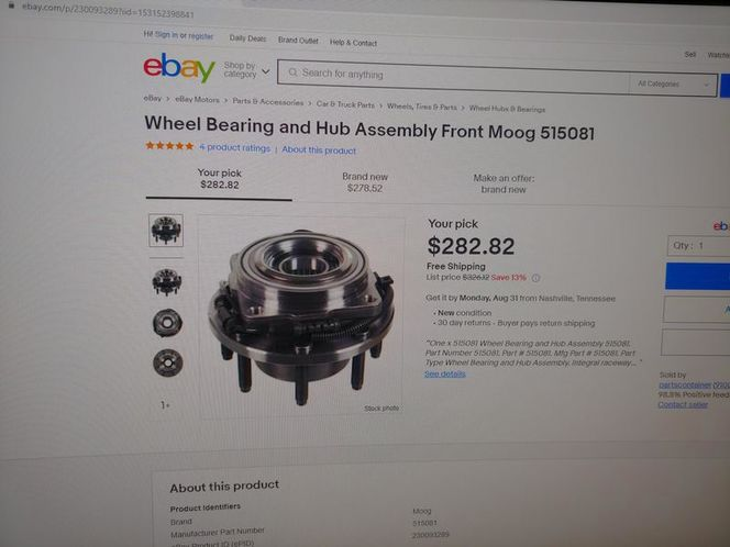 f250/f350/f450 front hub assbly ford 518 apllacation #rb515081 for sale in Salt Lake City , UT