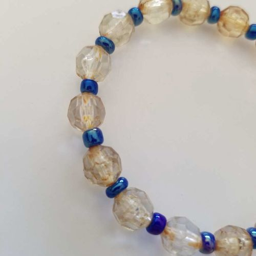 Brown and Blue Beaded 7