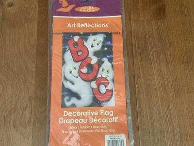 "Outdoor Halloween Boo Garden Flag 25"" X 38"""