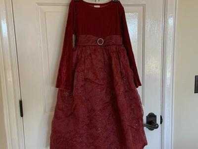 Girls Red Christmas Dress Size 6