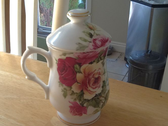 Staffordshire Collection sugar container, rose pattern for sale in Millcreek , UT