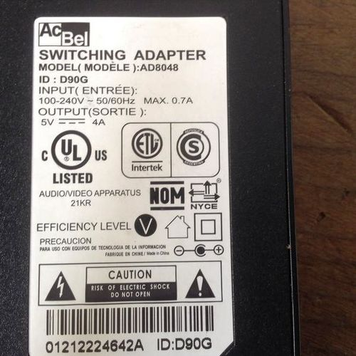 ACBel SWITCHING ADAPTER AD8048 POWER SUPPLY for sale in Millcreek , UT