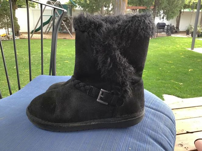 Children's Place Size1, Black Suede Faux Fur Boots for sale in Millcreek , UT