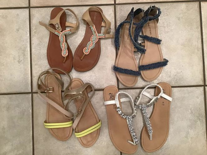 4 Pairs of Sandals sizes 7-8 for sale in Millcreek , UT