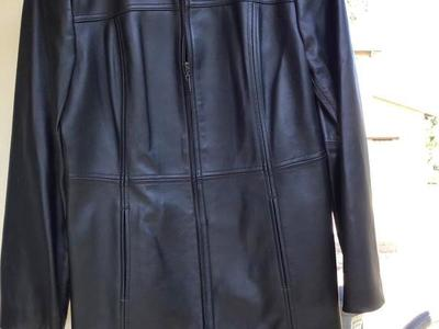 (New) Valerie Stevens Black Leather Coat Medium P