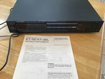 Vintage Kenwood synthesizer tuner KT -56