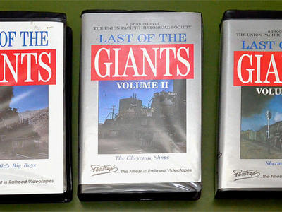 VHS tapes of the UP Big Boy locomotives