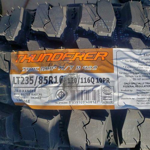 235/85r16 thunderer trail grip mt r408 for sale in Salt Lake City , UT