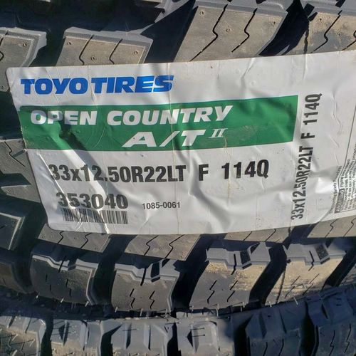 33x12.50r22 toyo open country at ll for sale in Salt Lake City , UT