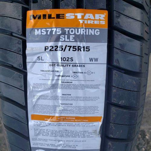 225/75r15 milestar ms775 touring sle for sale in Salt Lake City , UT