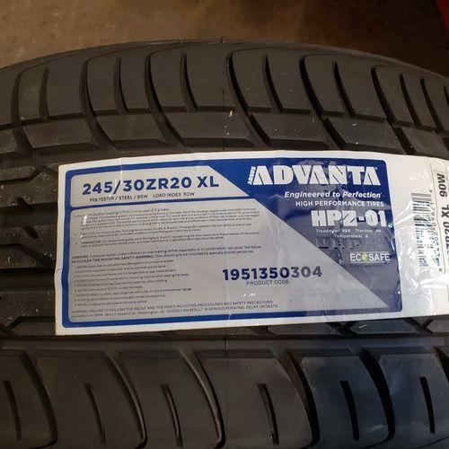 245/30r20 advanta hpz-01 for sale in Salt Lake City , UT