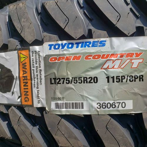 275/55r20 toyo open country mt for sale in Salt Lake City , UT